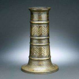 Candlestick (mash`al) inscribed with romantic verse