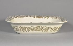 "Dish, in ""Quebec"" pattern with scene ""St. John's Gate"""