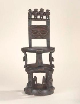 Chief's stool with figures