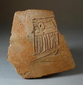 Jar fragment with incised Narmer serekh