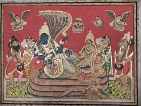 Vishnu Lying on the Serpant Ananta