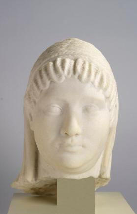 Bust of the veiled head of a woman