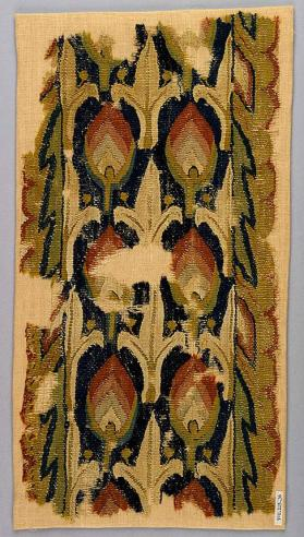Fragment of a wall hanging or curtain