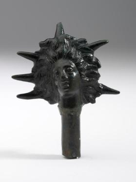 Head of Sol (Sun god) figure