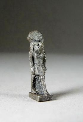 Amulet, falcon-headed god Khonsu Neferhotep