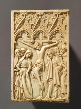 Diptych panel, Crucifixion