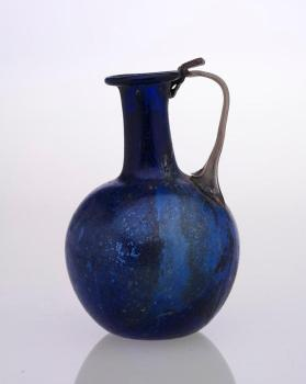Blue flagon with one handle