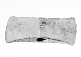 "Double axe head with Greek inscription ""Antaios Megaris"""