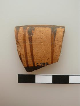 Fragment from the rim of an East Greek bowl with slip paint decoration