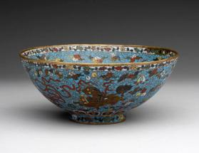 Bowl with Buddhist motifs