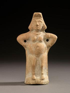 Figure of nude female deity