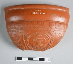 Large section of a Samian ware bowl