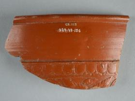 Fragment of a Samian ware bowl with ovolo border