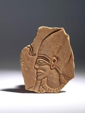 Relief of a king wearing Hedjet, the white crown of Upper Egypt