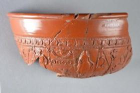 Large fragment from a Samian ware bowl
