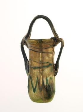 Double flask with basket handle and two side handles