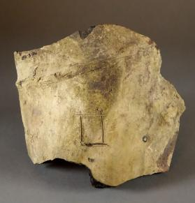 Jar fragment with incised potmark of a bird and square