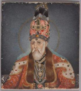 Portrait painting of Akbar II