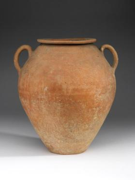 Two-handled jar with cremation burial