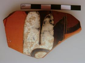 Fragment of an Attic black-figure amphora showing a charioteer.