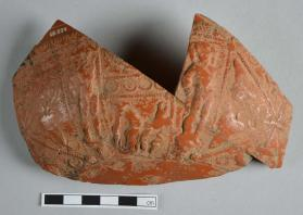 Fragments from a Samian ware bowl
