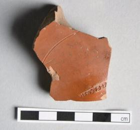 Fragment from the base of a Samian ware dish