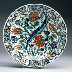 "Dish with ""saz"" leaf design"