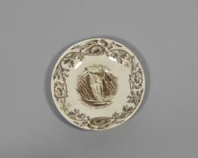 "Saucer in ""Quebec"" pattern with scene ""Montmorency Falls"""