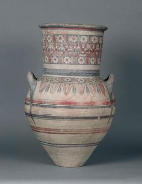 Large amphora of Bichrome IV-V ware with lotus and other floral motifs