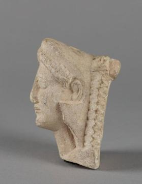 Head of a beardless Herakles figure