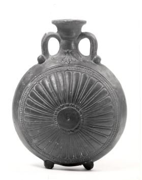 Pilgrim flask with rosette motif