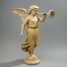 Statue of trumpeting angel