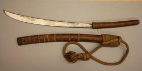 Dha sword with scabbard