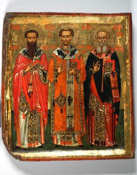 Icon of Saints Basil, John Chrysostom, Gregory Nazianzus