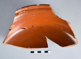 Large fragment of a Samian ware bowl