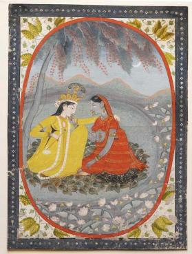Painting of Radha and Krishna