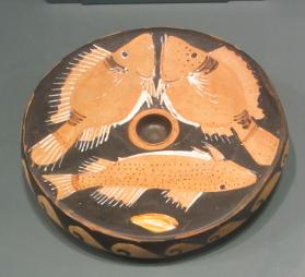 Red Figure plate with fish motif